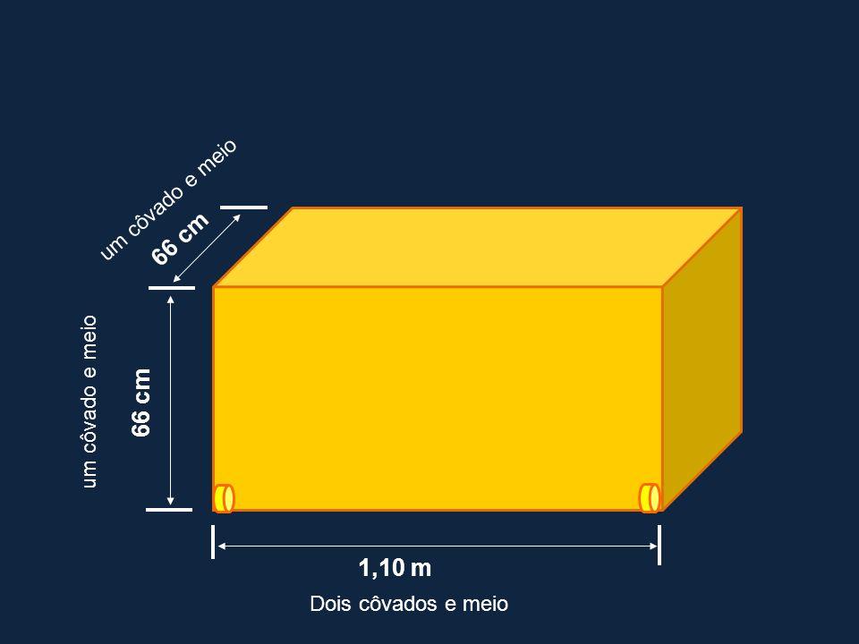 66 cm 66 cm 1,10 m um côvado e meio um côvado e meio