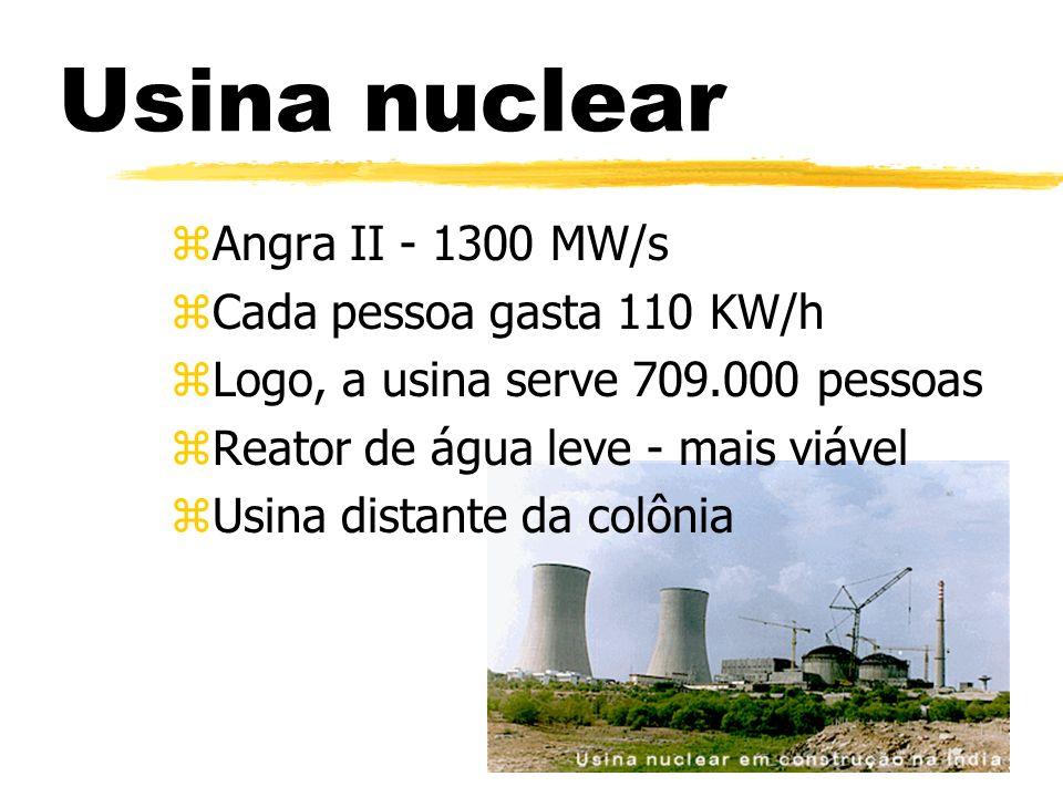 Usina nuclear Angra II - 1300 MW/s Cada pessoa gasta 110 KW/h
