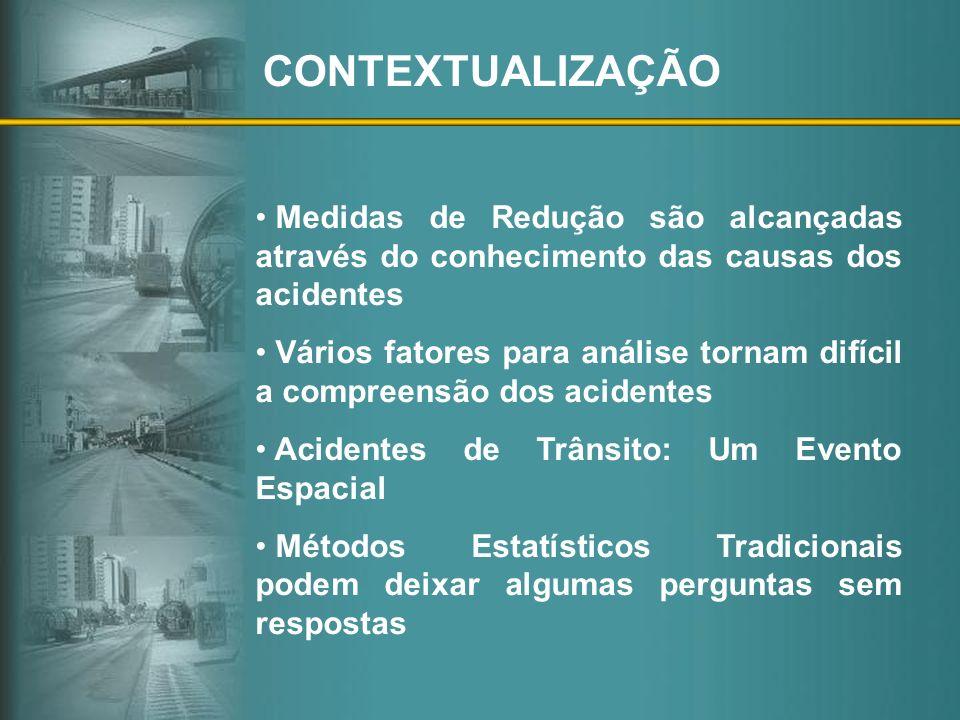 CONTEXTUALIZAÇÃO Medidas de Redução são alcançadas através do conhecimento das causas dos acidentes.