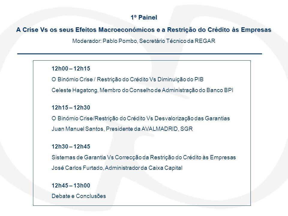 Moderador: Pablo Pombo, Secretário Técnico da REGAR