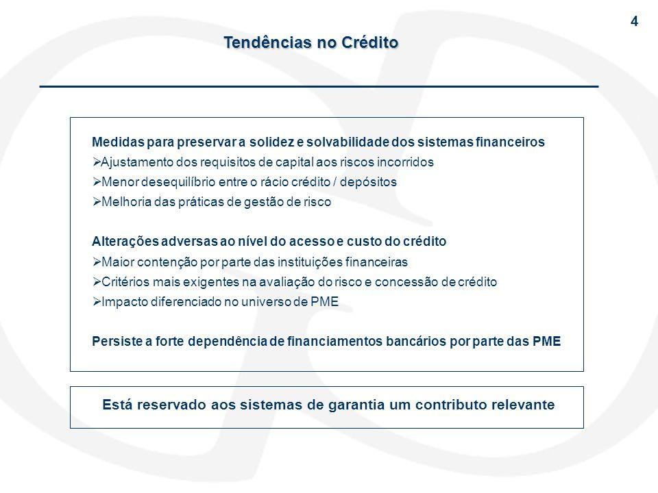 4 Tendências no Crédito. Medidas para preservar a solidez e solvabilidade dos sistemas financeiros.