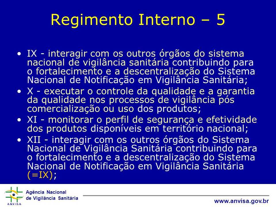Regimento Interno – 5