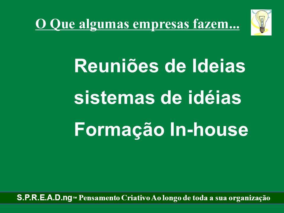 Reuniões de Ideias sistemas de idéias Formação In-house
