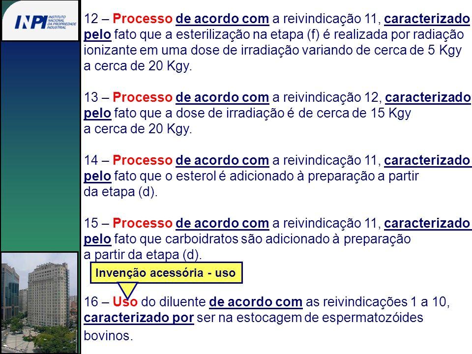 12 – Processo de acordo com a reivindicação 11, caracterizado