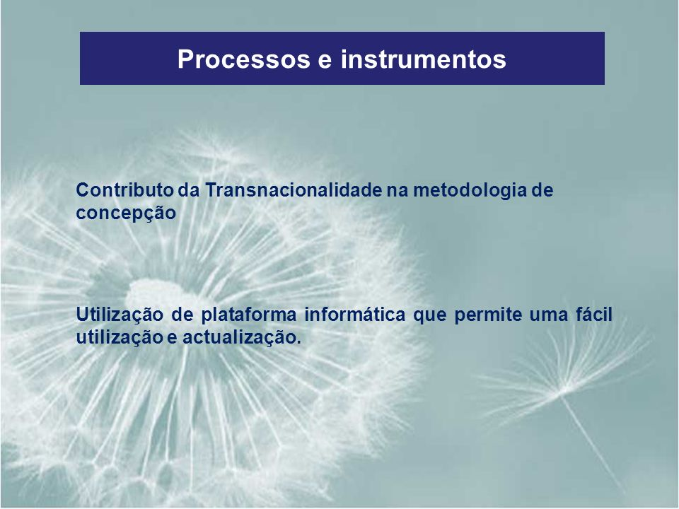 Processos e instrumentos