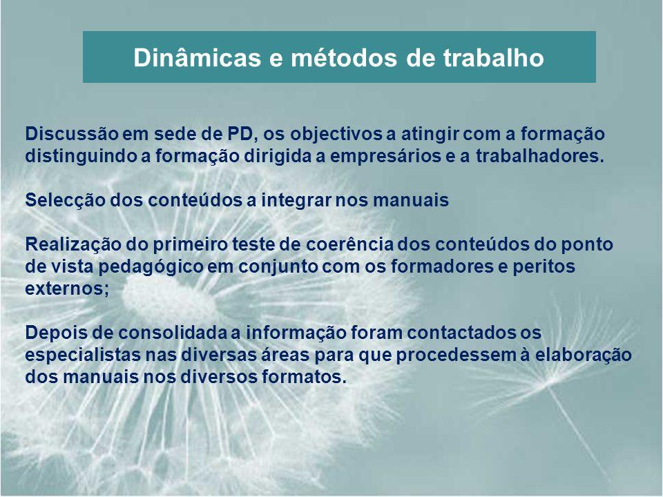 Dinâmicas e métodos de trabalho