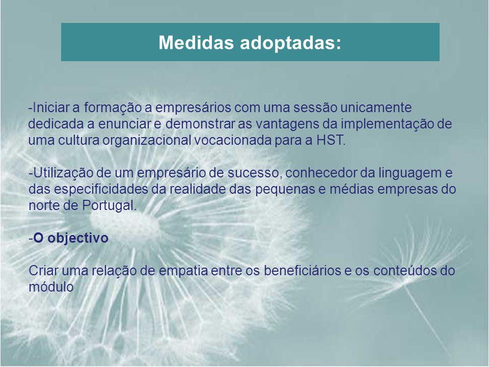 Medidas adoptadas:
