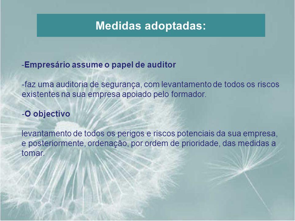 Medidas adoptadas: Empresário assume o papel de auditor