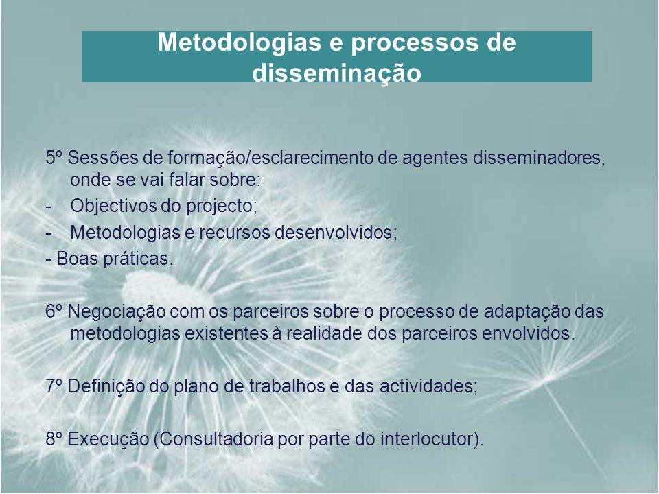 Metodologias e processos de disseminação