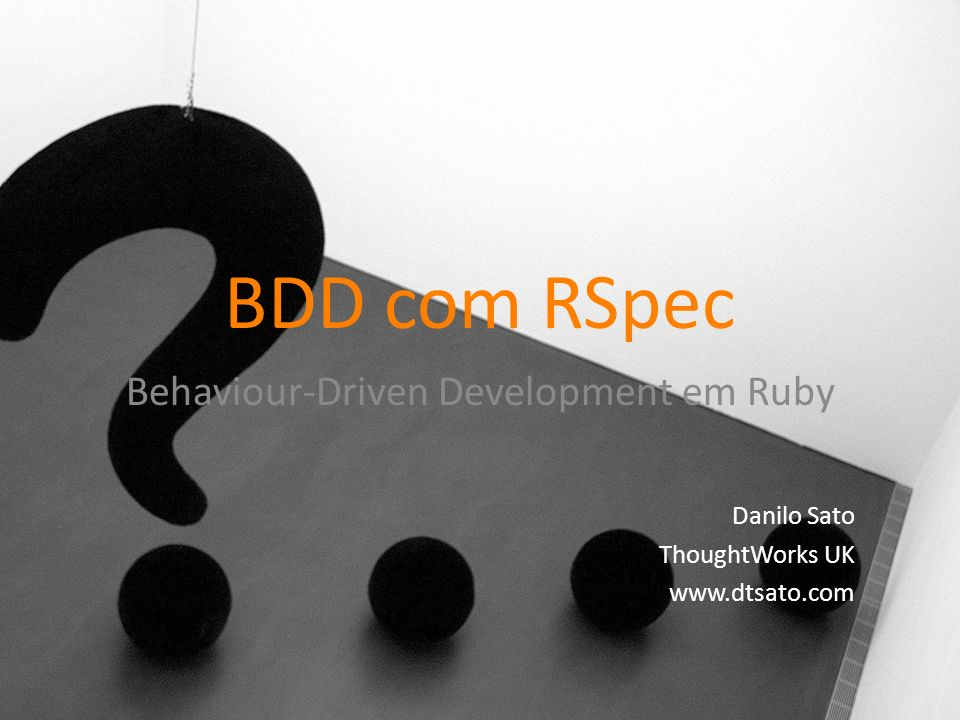 Behaviour-Driven Development em Ruby