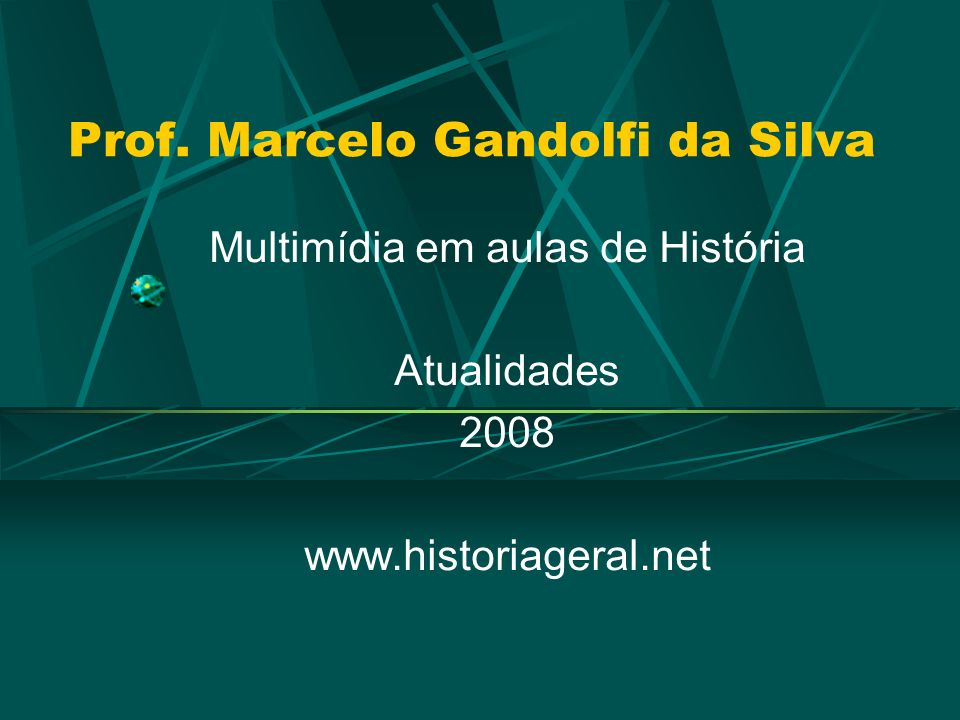 Prof. Marcelo Gandolfi da Silva