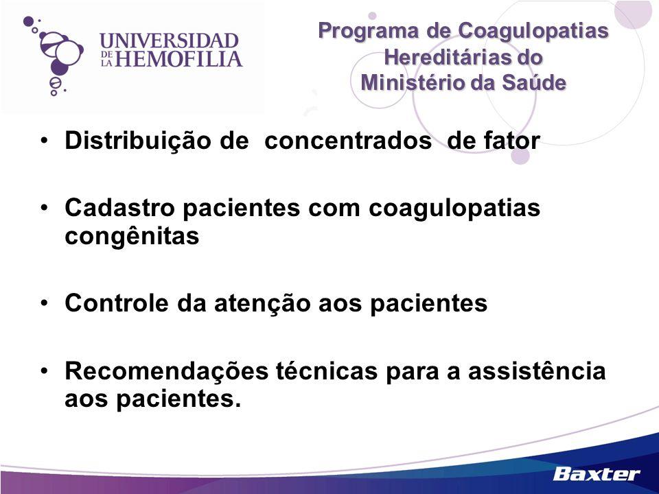 Programa de Coagulopatias Hereditárias do Ministério da Saúde