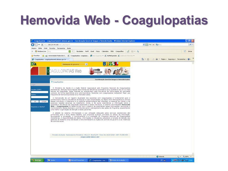 Hemovida Web - Coagulopatias
