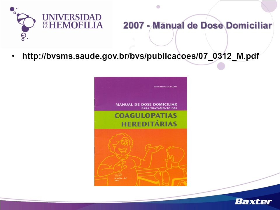 2007 - Manual de Dose Domiciliar
