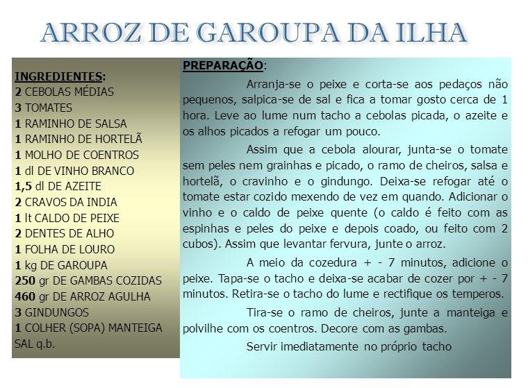 ARROZ DE GAROUPA DA ILHA