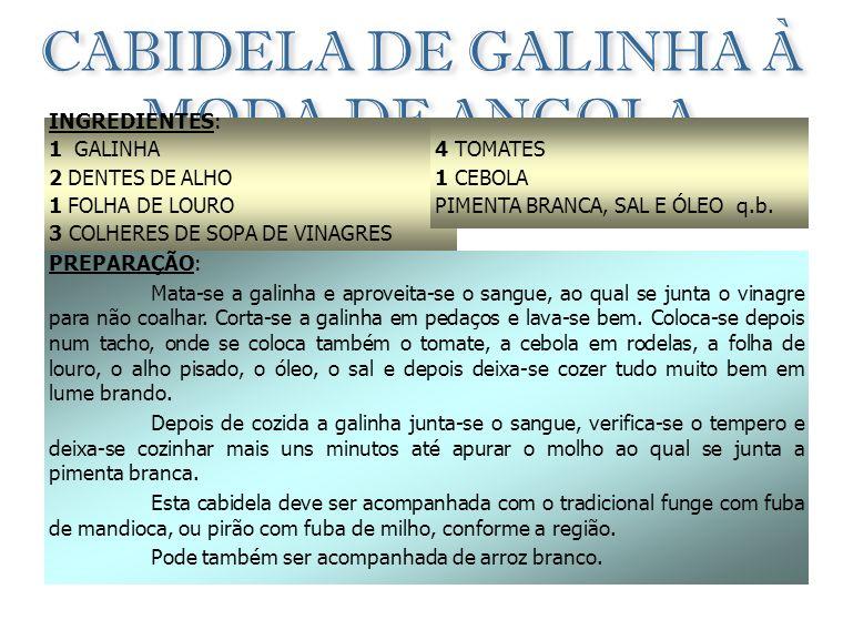 CABIDELA DE GALINHA À MODA DE ANGOLA