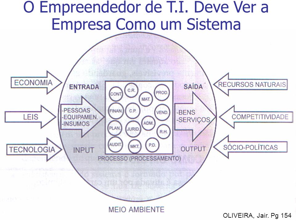 O Empreendedor de T.I. Deve Ver a Empresa Como um Sistema