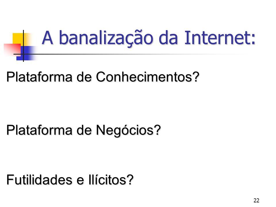A banalização da Internet: