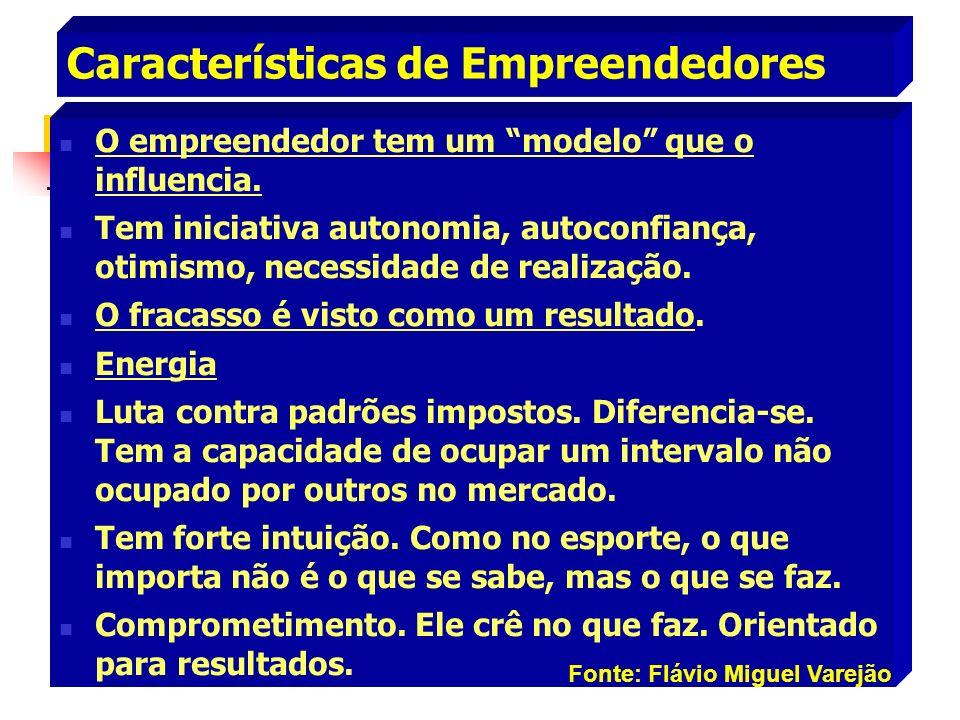 Características de Empreendedores