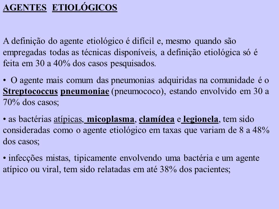 AGENTES ETIOLÓGICOS