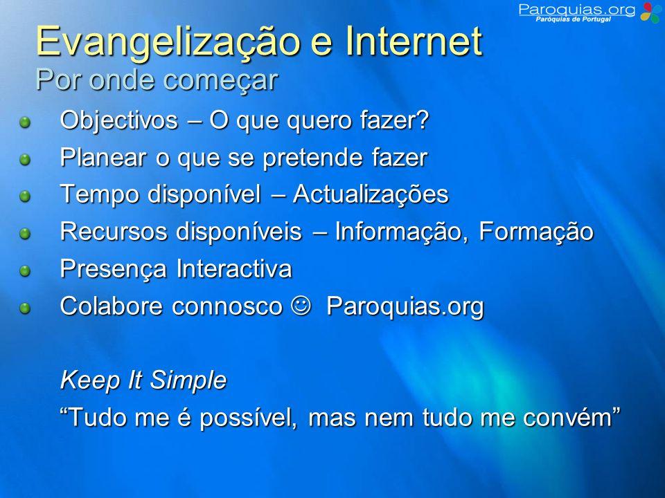 Evangelização e Internet Por onde começar