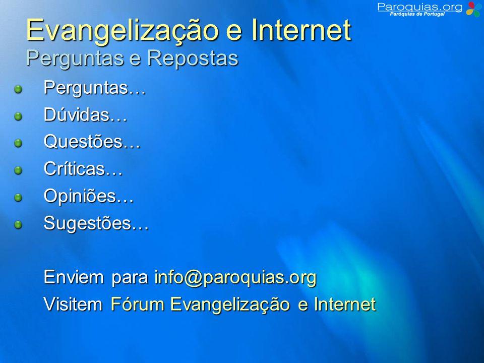 Evangelização e Internet Perguntas e Repostas