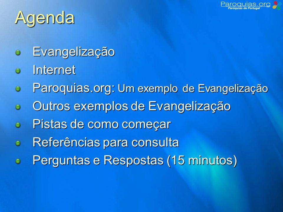 Agenda Evangelização Internet
