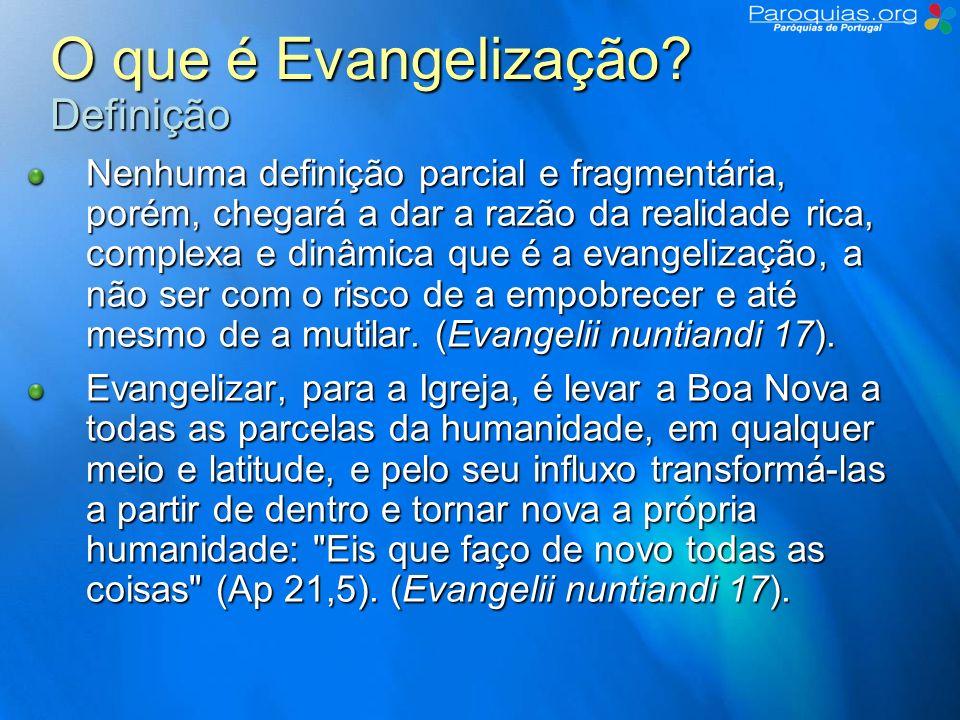 O que é Evangelização Definição
