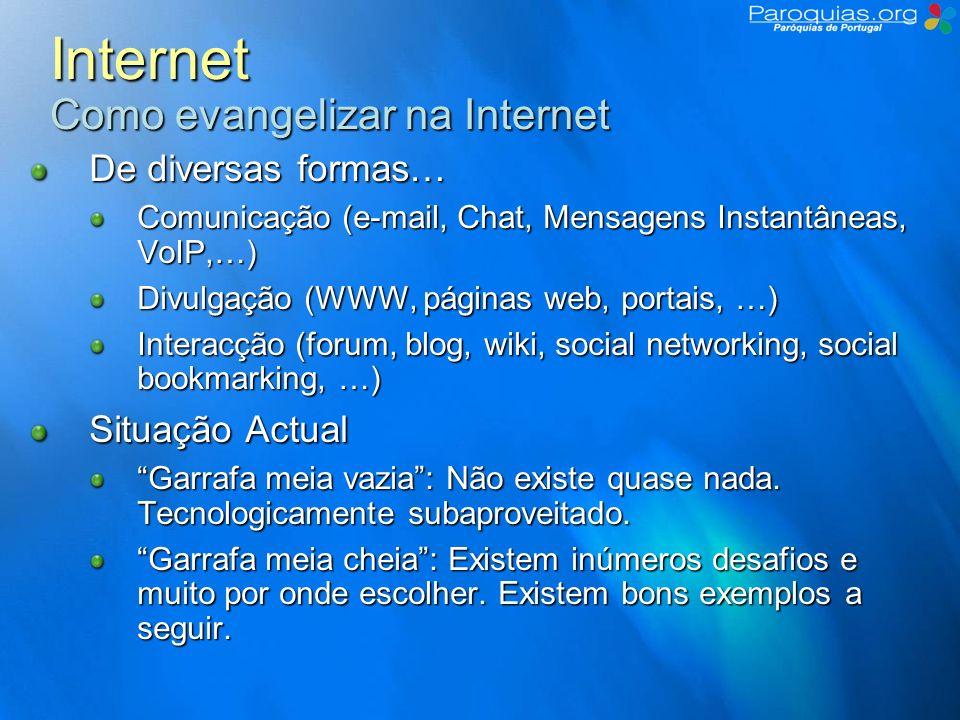 Internet Como evangelizar na Internet