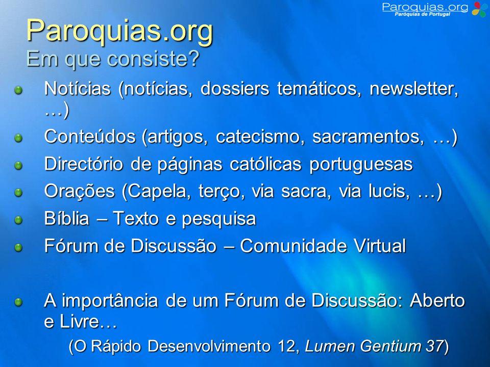 Paroquias.org Em que consiste
