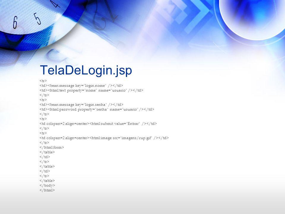 TelaDeLogin.jsp <tr>