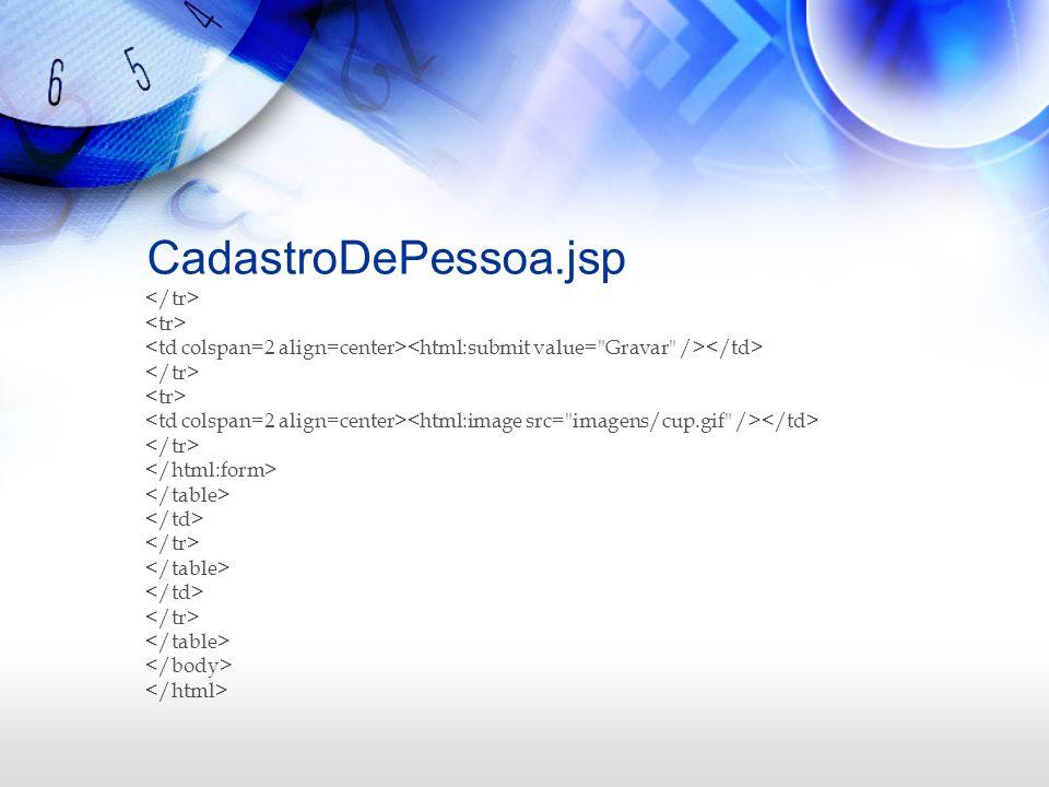 CadastroDePessoa.jsp </tr> <tr>
