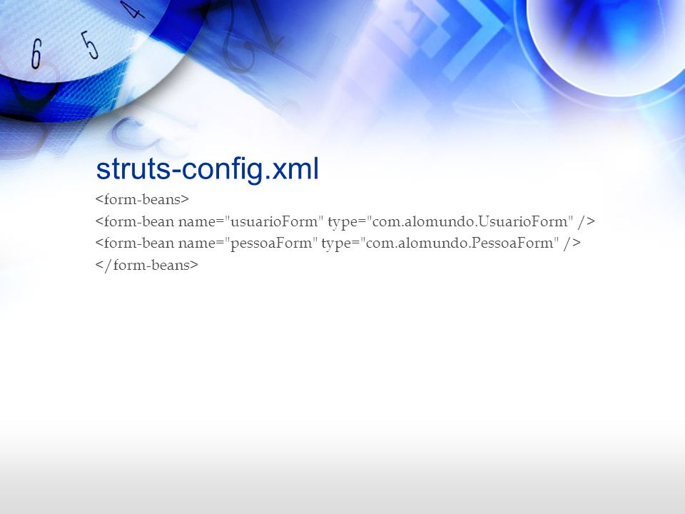 struts-config.xml <form-beans>