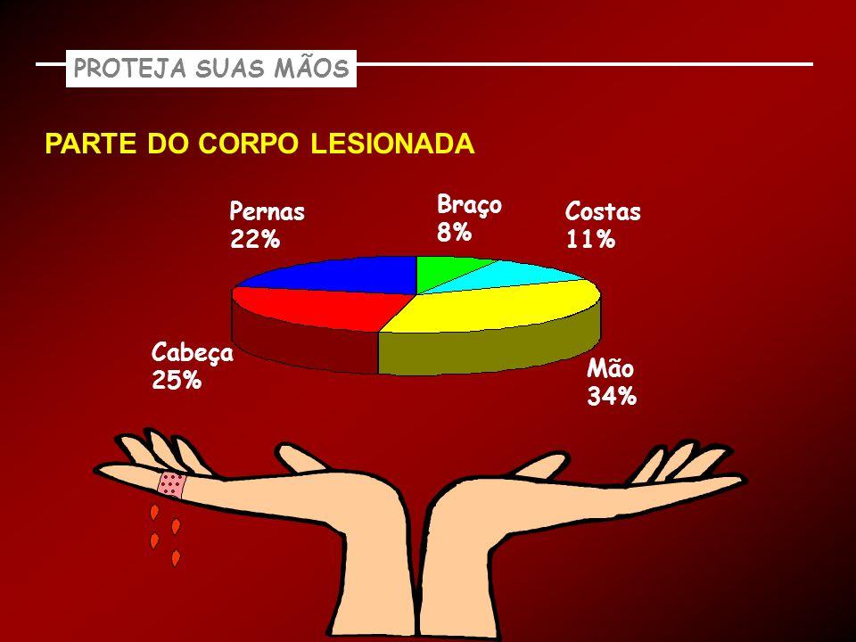 PARTE DO CORPO LESIONADA