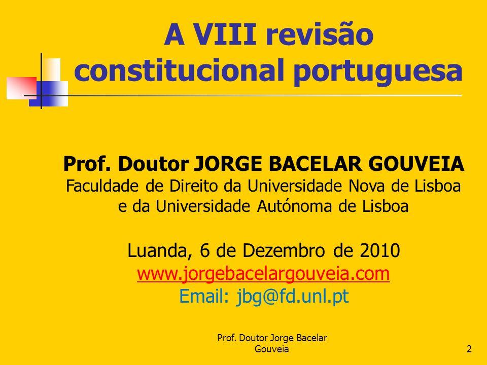 A VIII revisão constitucional portuguesa