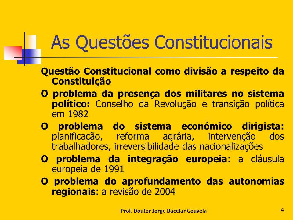 As Questões Constitucionais