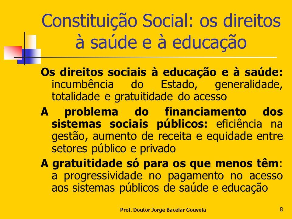 Constituição Social: os direitos à saúde e à educação