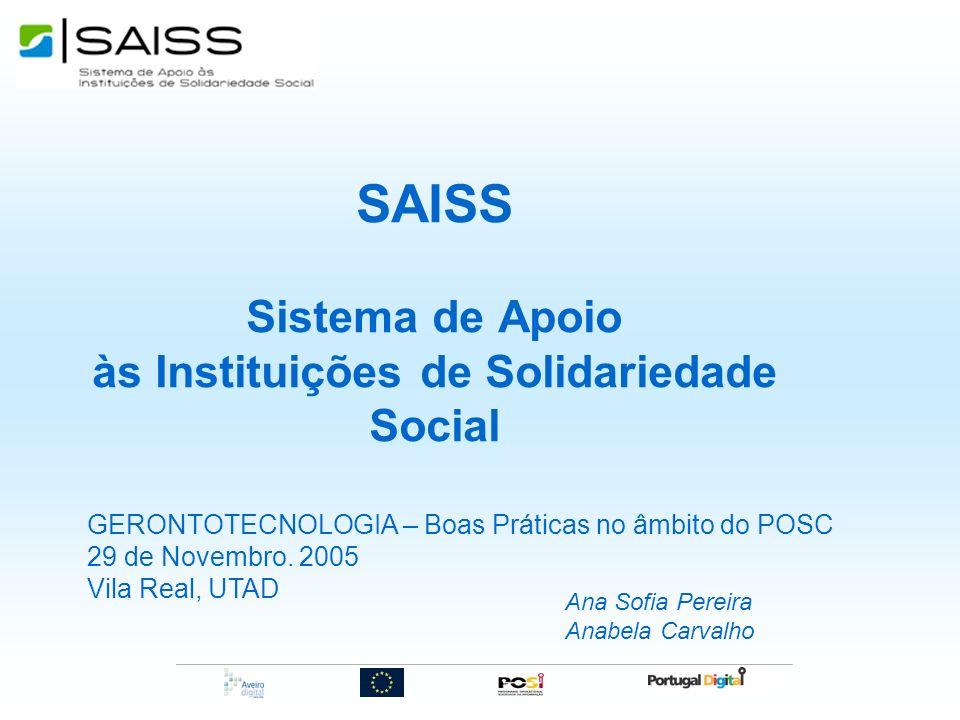 SAISS Sistema de Apoio às Instituições de Solidariedade Social