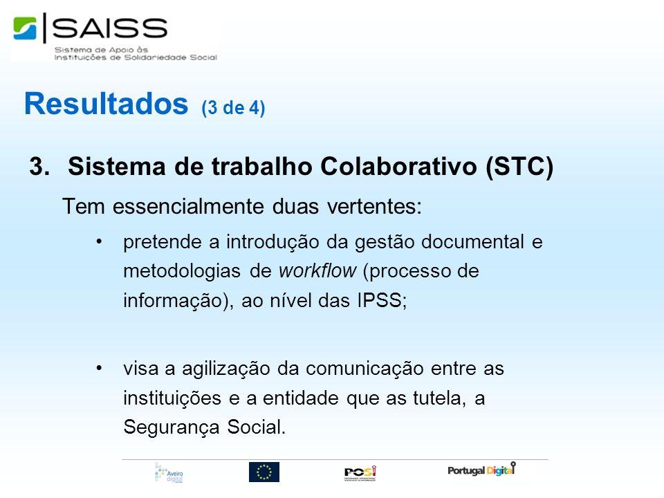 Resultados (3 de 4) Sistema de trabalho Colaborativo (STC)