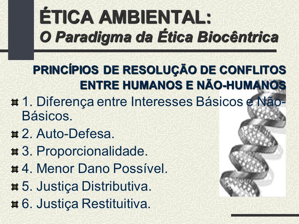 ÉTICA AMBIENTAL: O Paradigma da Ética Biocêntrica