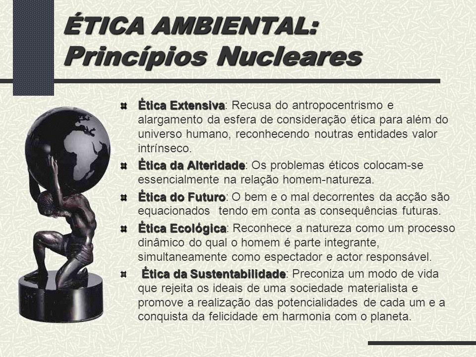 ÉTICA AMBIENTAL: Princípios Nucleares