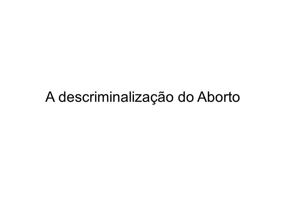 A descriminalização do Aborto