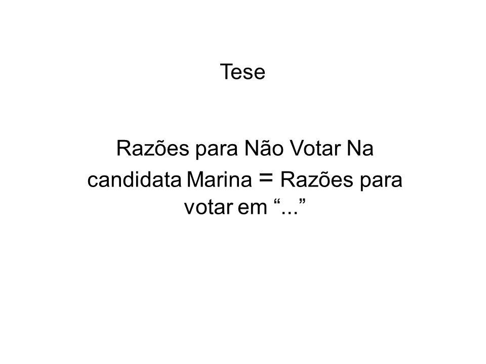 Razões para Não Votar Na candidata Marina = Razões para votar em ...