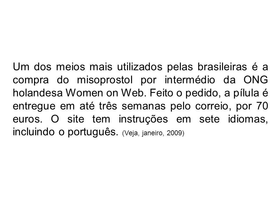 Um dos meios mais utilizados pelas brasileiras é a compra do misoprostol por intermédio da ONG holandesa Women on Web.