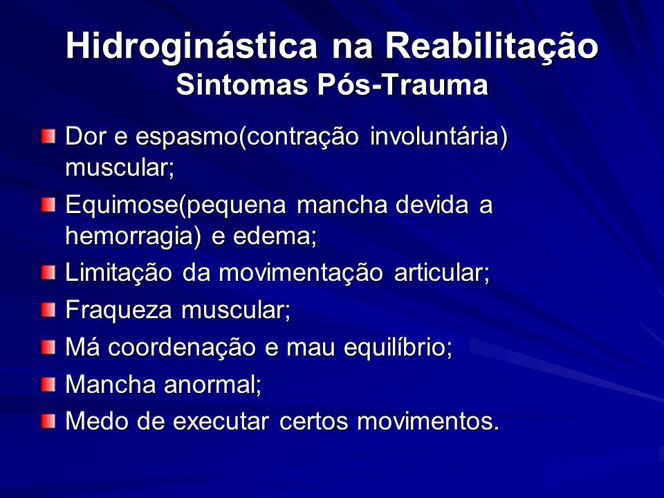Hidroginástica na Reabilitação Sintomas Pós-Trauma