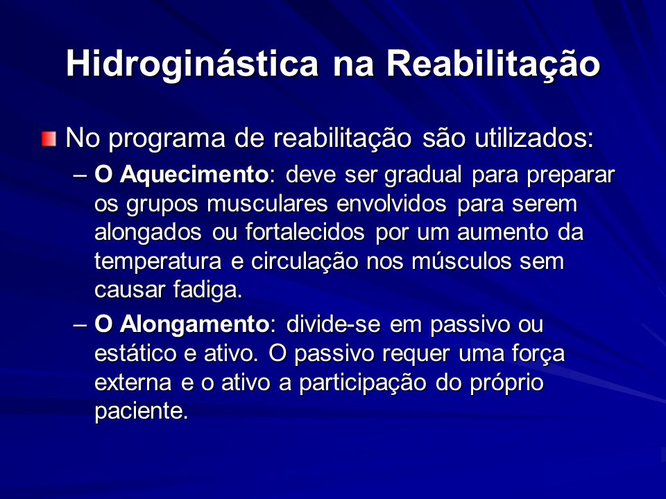 Hidroginástica na Reabilitação