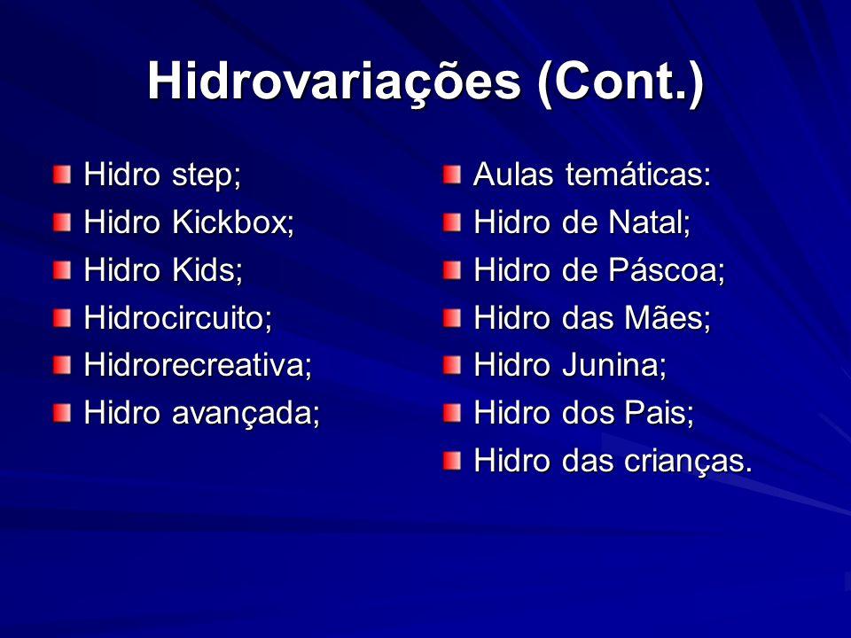 Hidrovariações (Cont.)