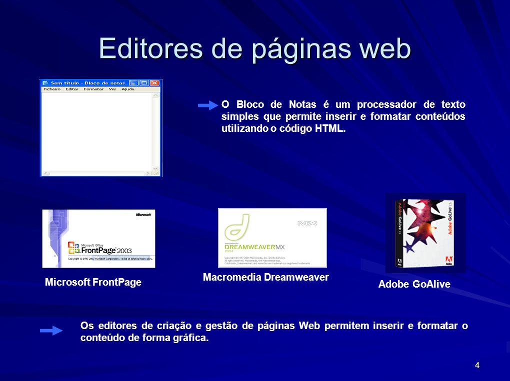 Editores de páginas web