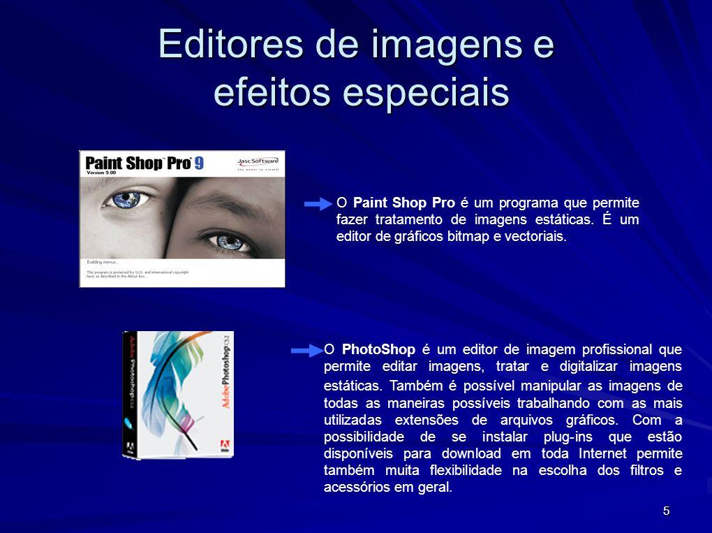 Editores de imagens e efeitos especiais
