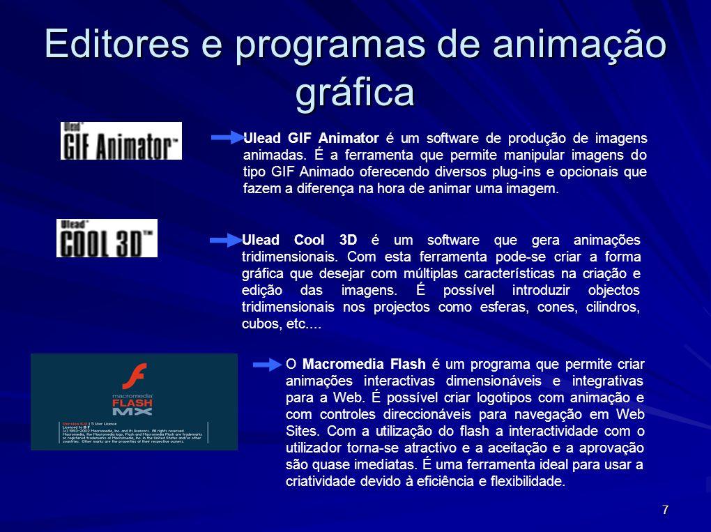 Editores e programas de animação gráfica
